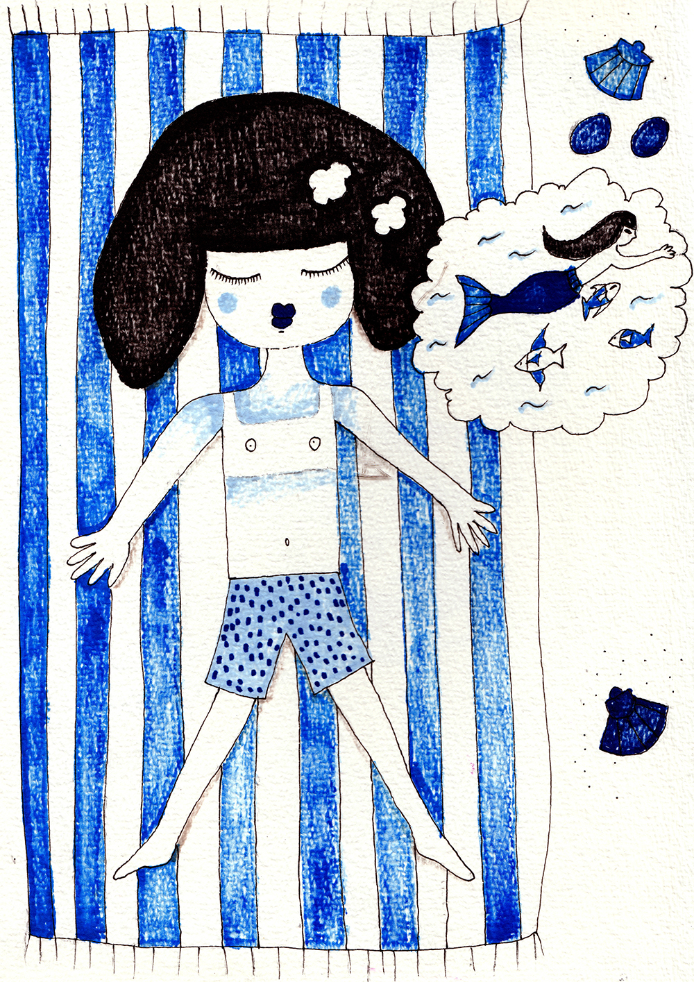 Gigi a la mer_short story_gigi dreams by Virginia Elena Patrone