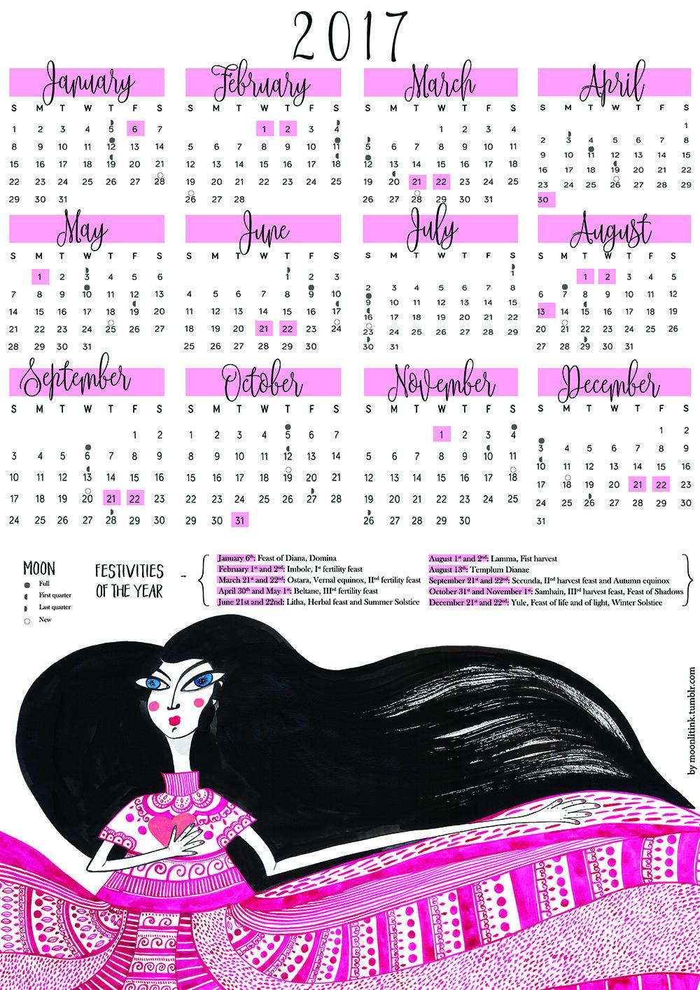 2017 Calendar by Virginia Elena Patrone