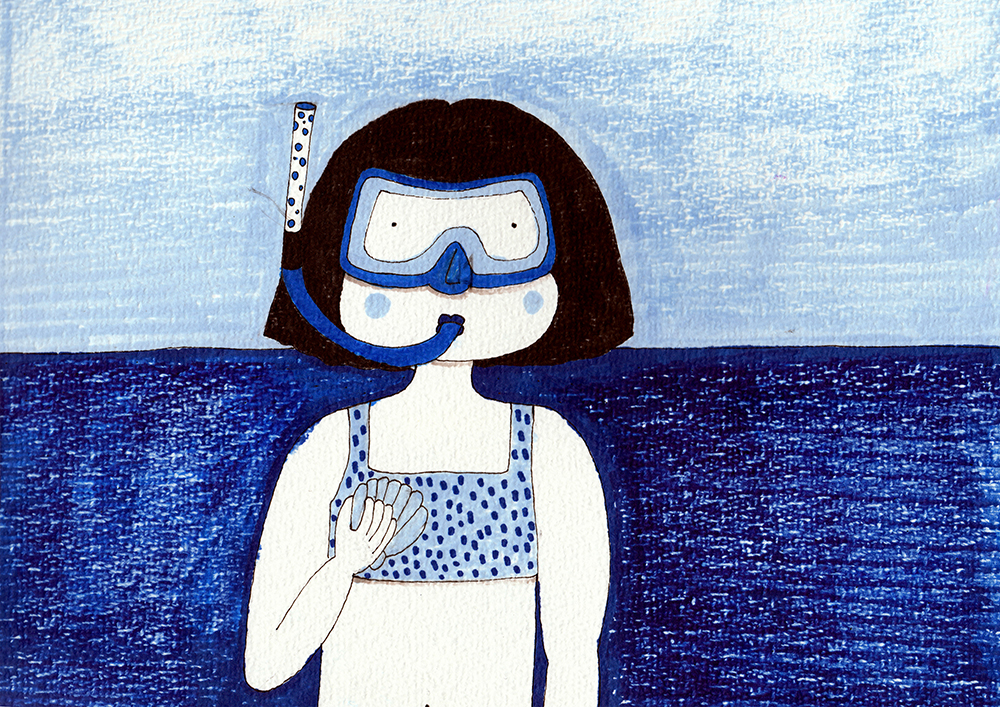 Gigi a la mer_short story_Cover by Virginia Elena Patrone