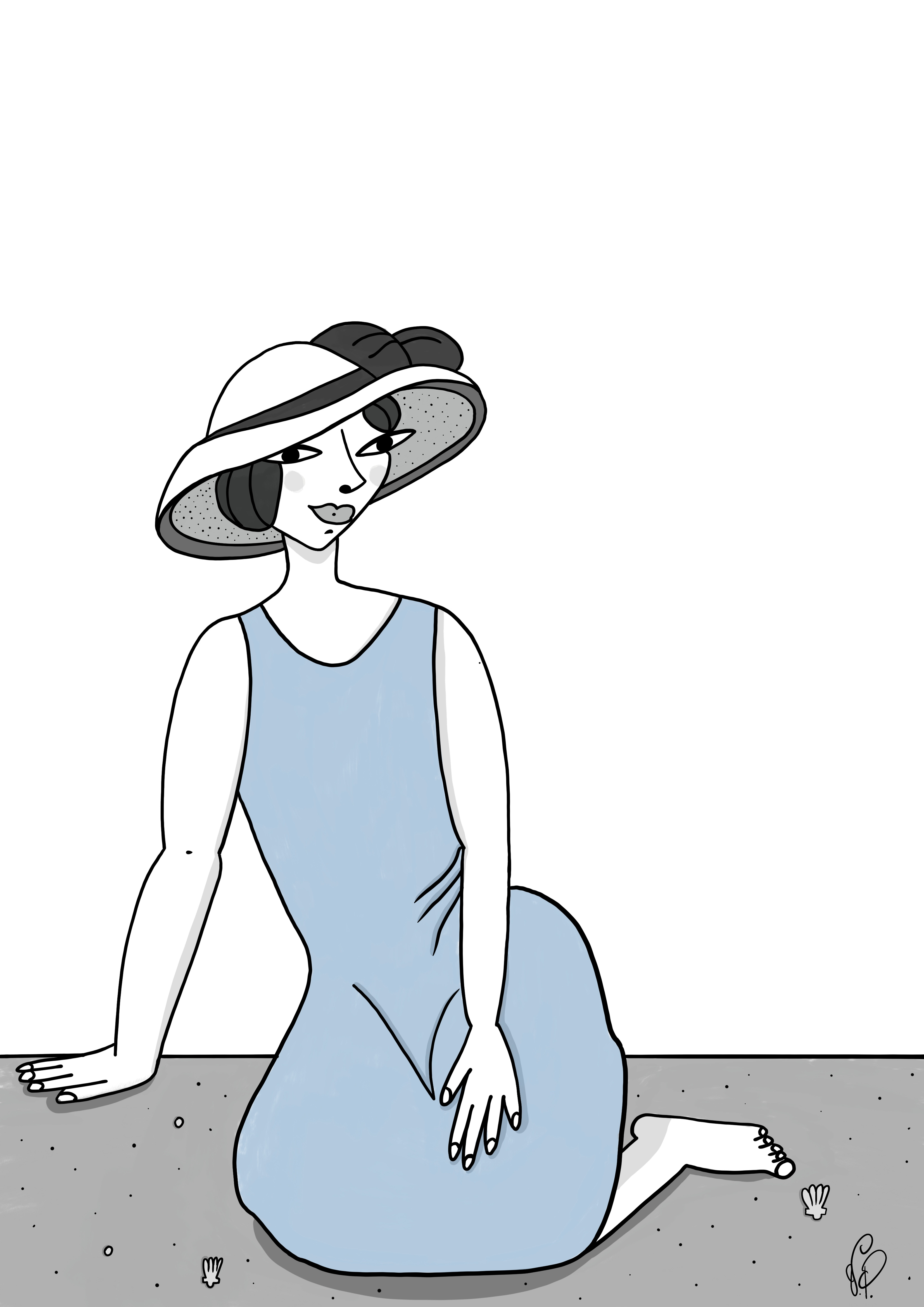 Lady at the sea_by Virginia Elena Patrone
