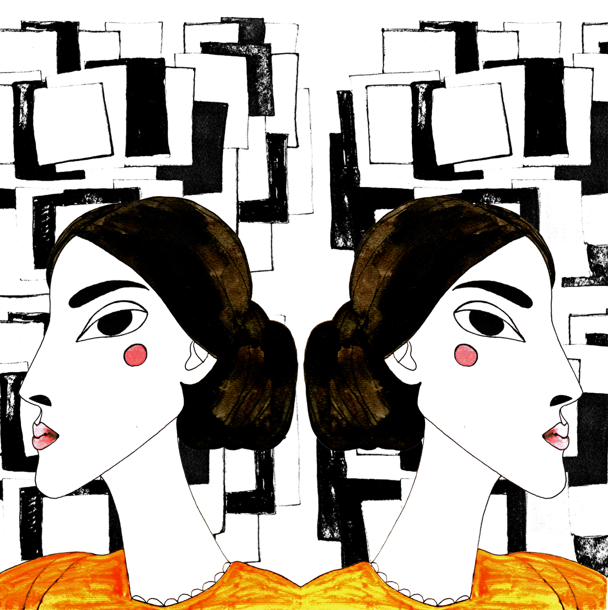Textile_Foulard Design_Virginia Woolf_by Virginia Elena Patrone