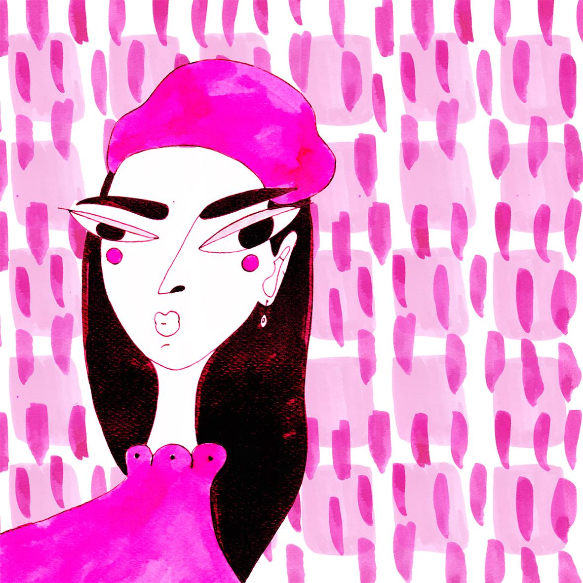 Textile_Foulard Design_SilkyPink_by Virginia Elena Patrone