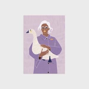 SnowGoose&Woman by Virginia Elena Patrone