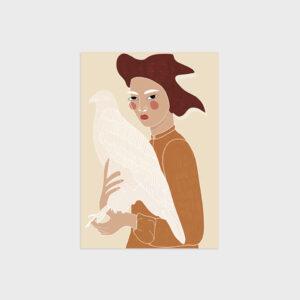 Hawk&Woman by Virginia Elena Patrone